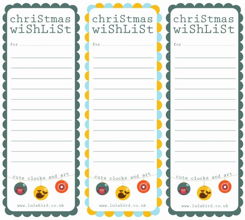 My Owl Barn Printable Christmas Wishlist Gift Tags