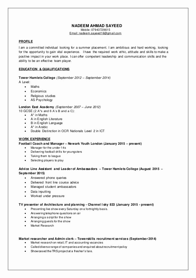 Nadeem Cv Part Time Jobs
