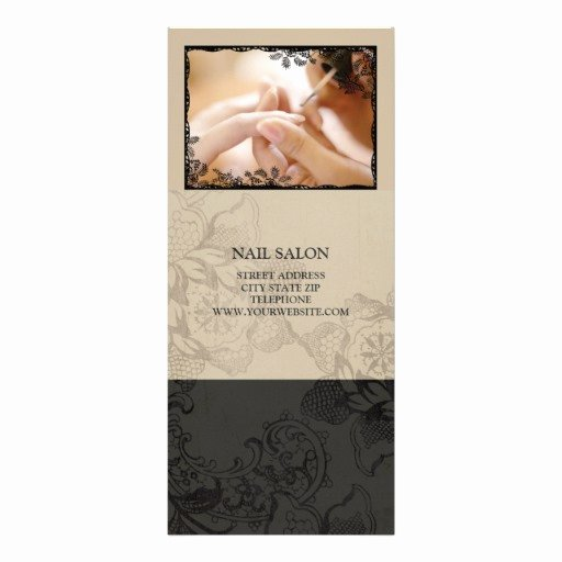 Nail Salon Services Price List Beige Rack Card Template