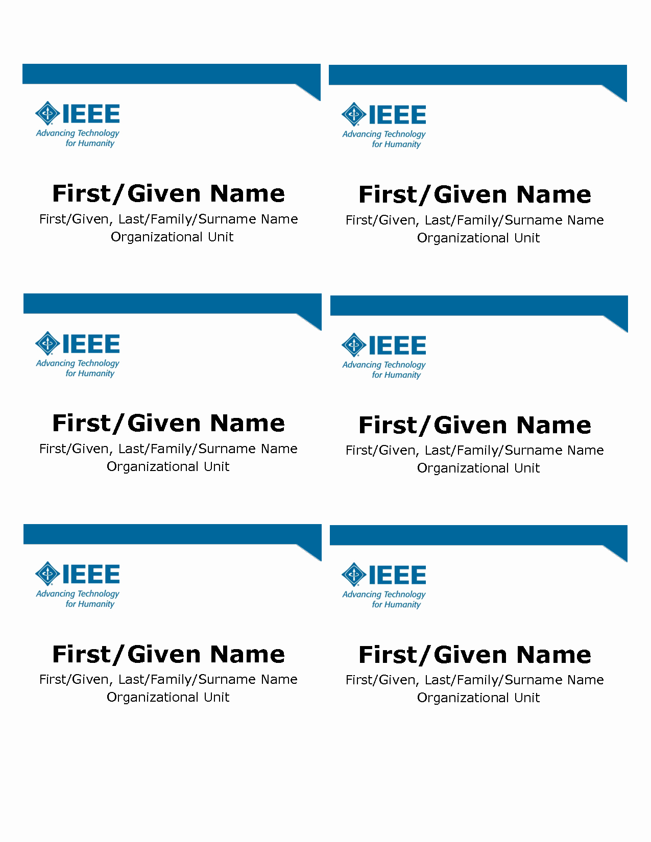 Name Badge Template