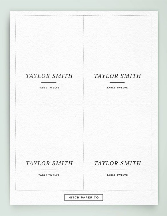 Name Card Template – 16 Free Sample Example format