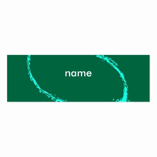Name Card Template Double Sided Mini Business Cards Pack
