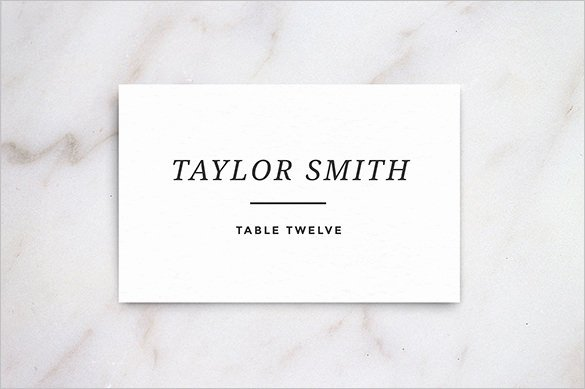 Name Card Templates – 18 Free Printable Word Pdf Psd