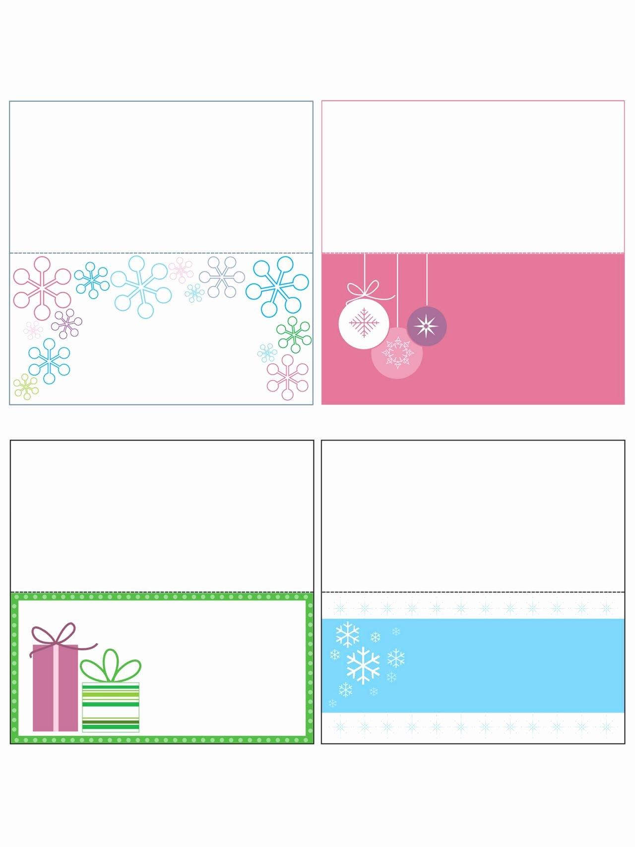 Name Card Templates for Christmas – Fun for Christmas