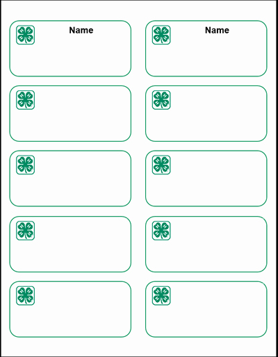 Name Tag Sticker Template Templates Data