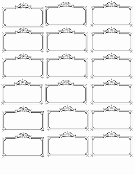 Name Tag Template Invites Illustrations