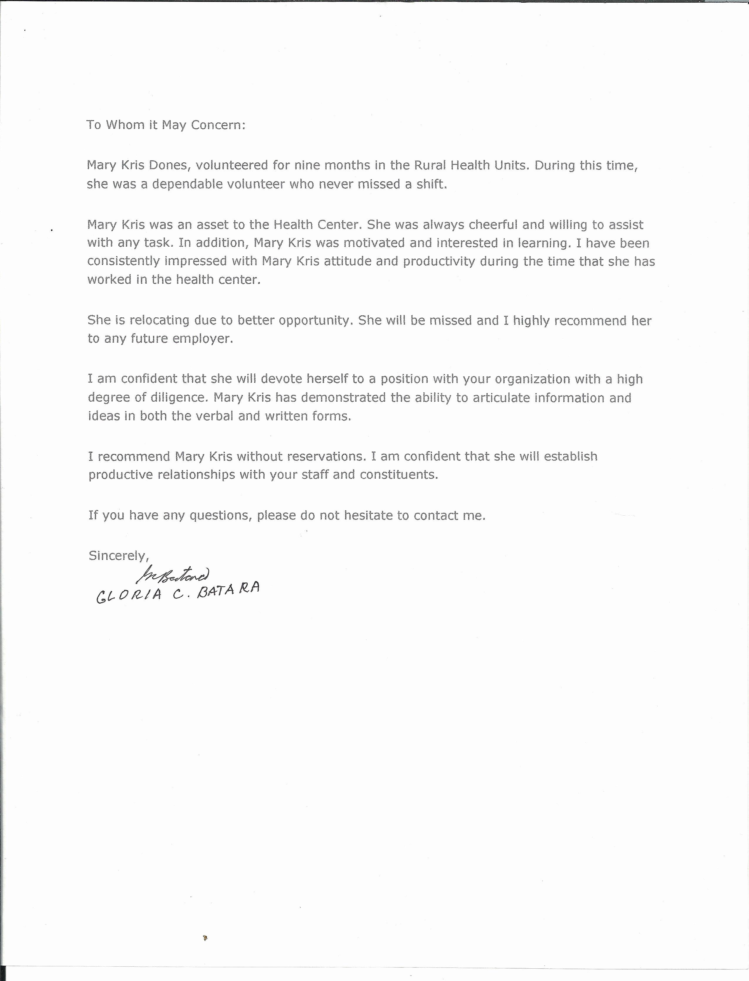 Nanny Re Mendation Letter – Templates Free Printable