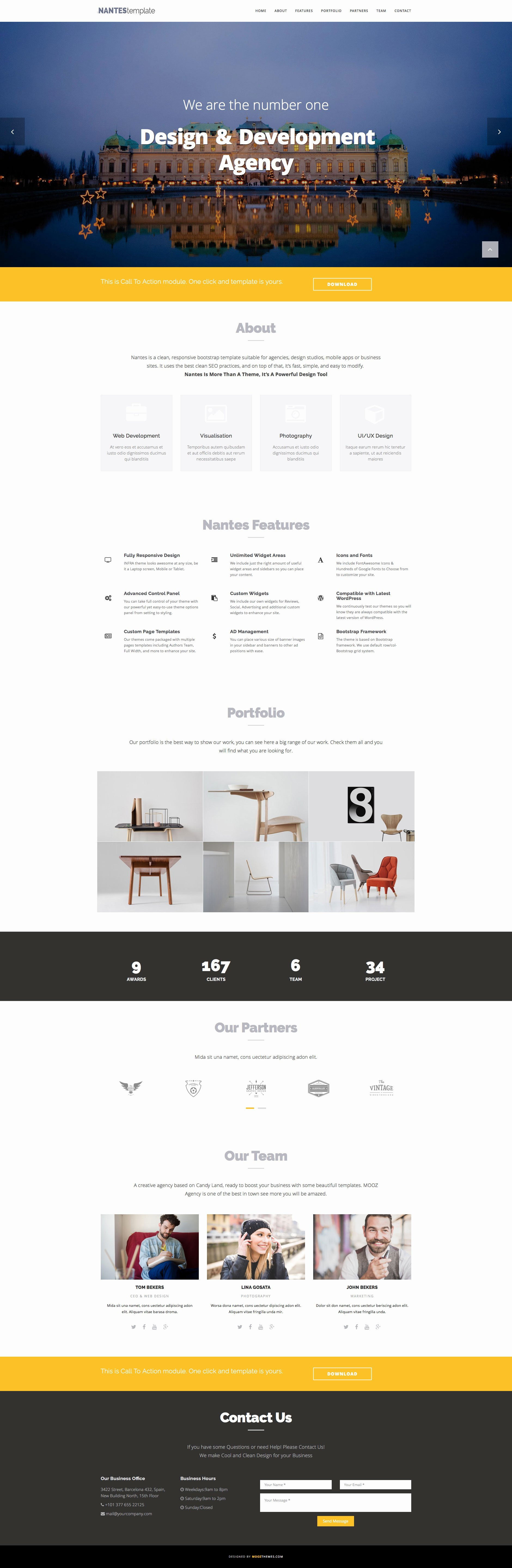 Nantes Free Responsive HTML5 Bootstrap E Page Template