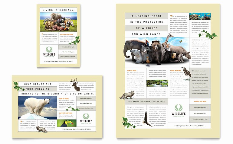 Nature & Wildlife Conservation Flyer & Ad Template Word