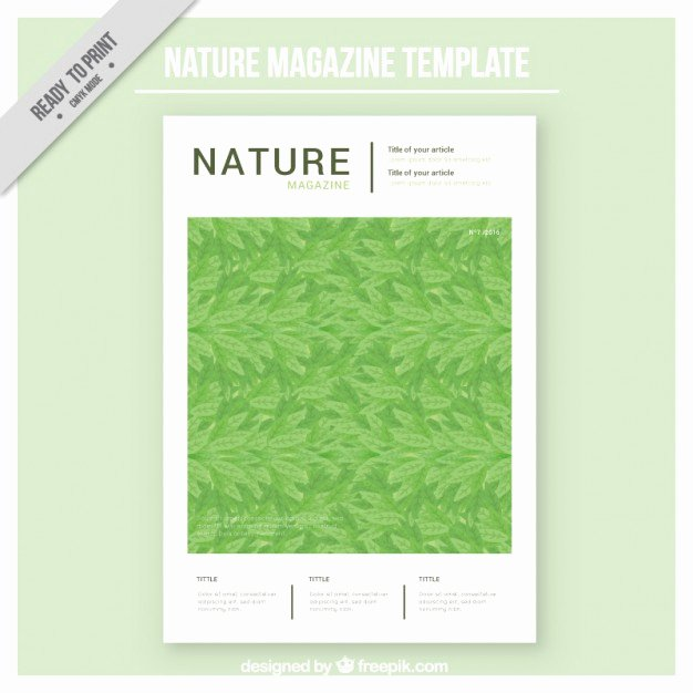 Nature Magazine Cover Template Vector