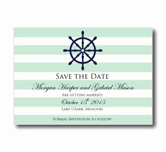 Nautical Save the Date Card Templatenautical by Clearylane