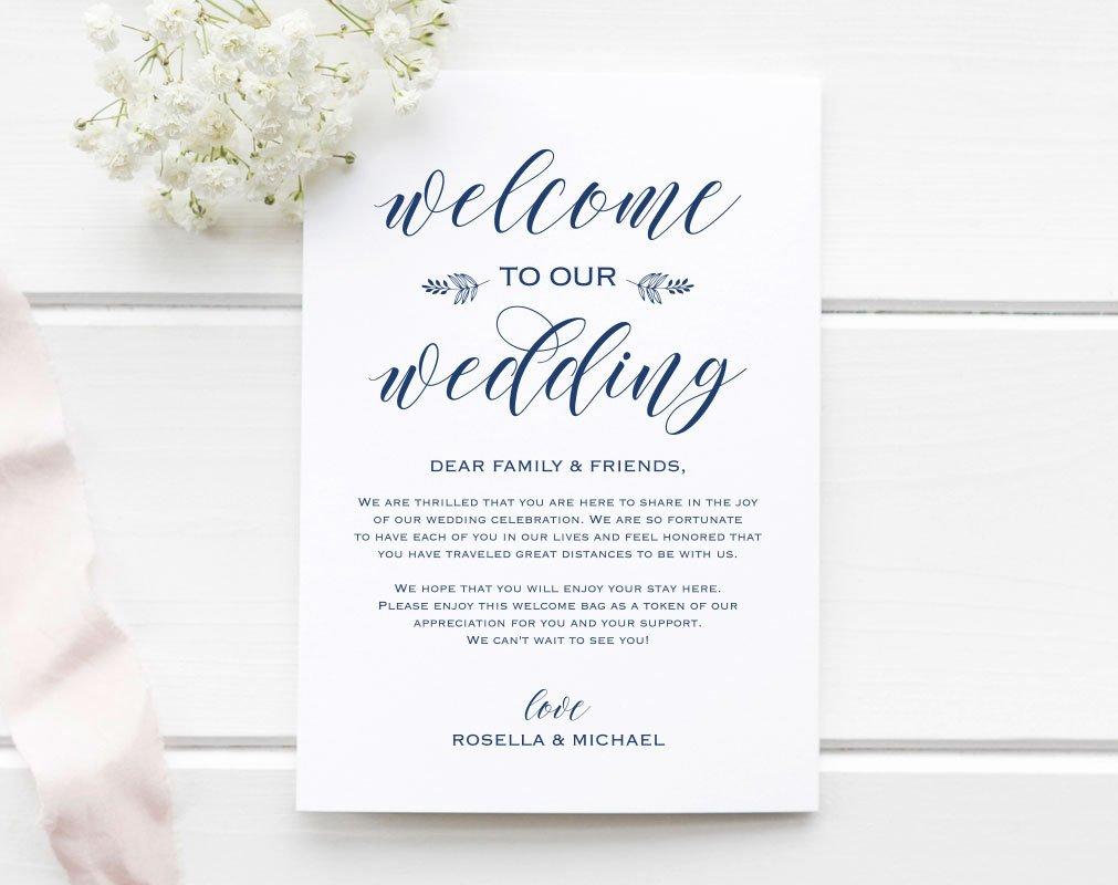 Navy Blue Wedding Wel E Bag Note Wel E Bag Letter