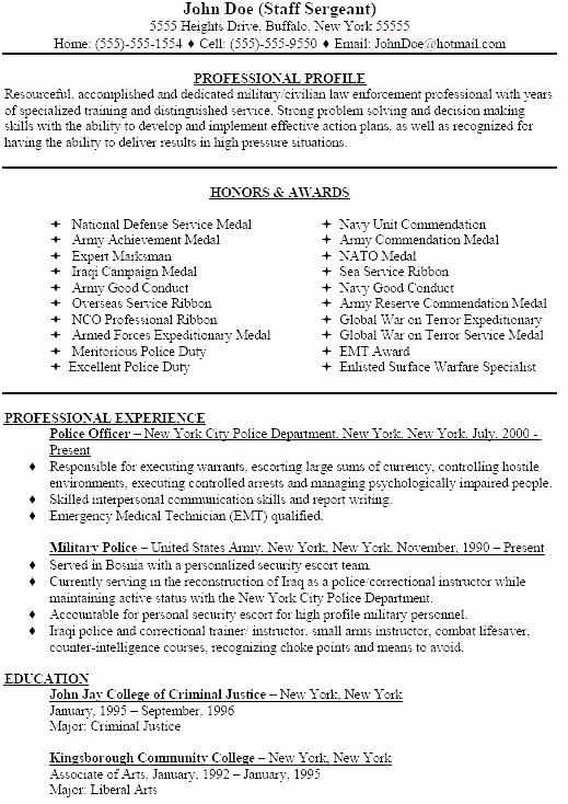 Navy Resume Builder Military to Civilian Sample Templates