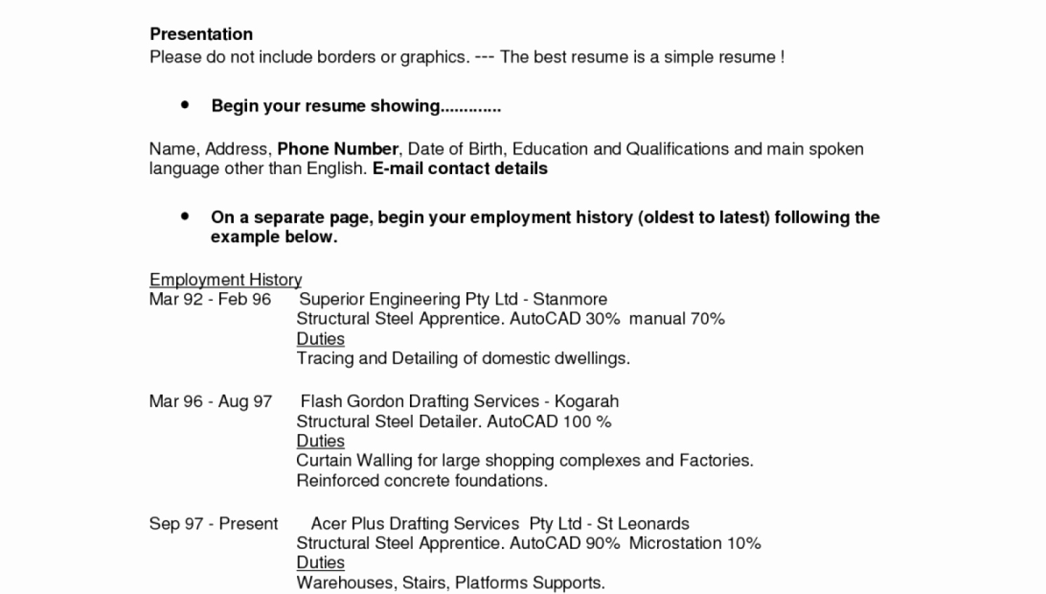 Need Help to Do My Resume