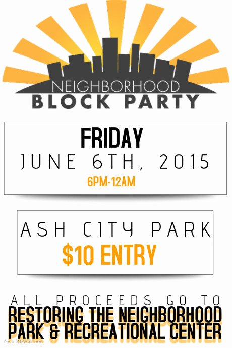 Neighborhood Block Party Flyer Poster Template
