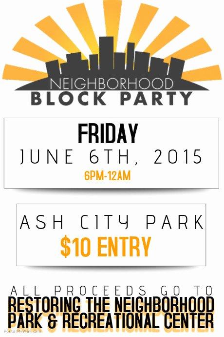Neighborhood Block Party Flyer Poster Template