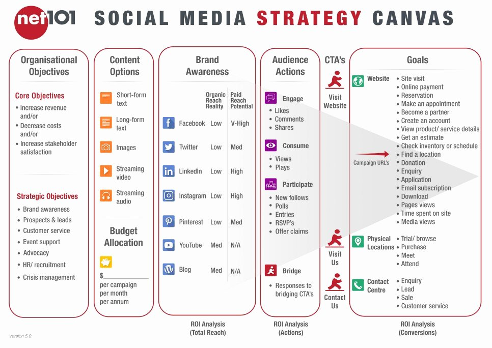 Net101 social Media Strategy Canvas Exercise