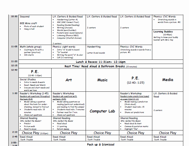 New Adventures In First Grade Lesson Planning Puter