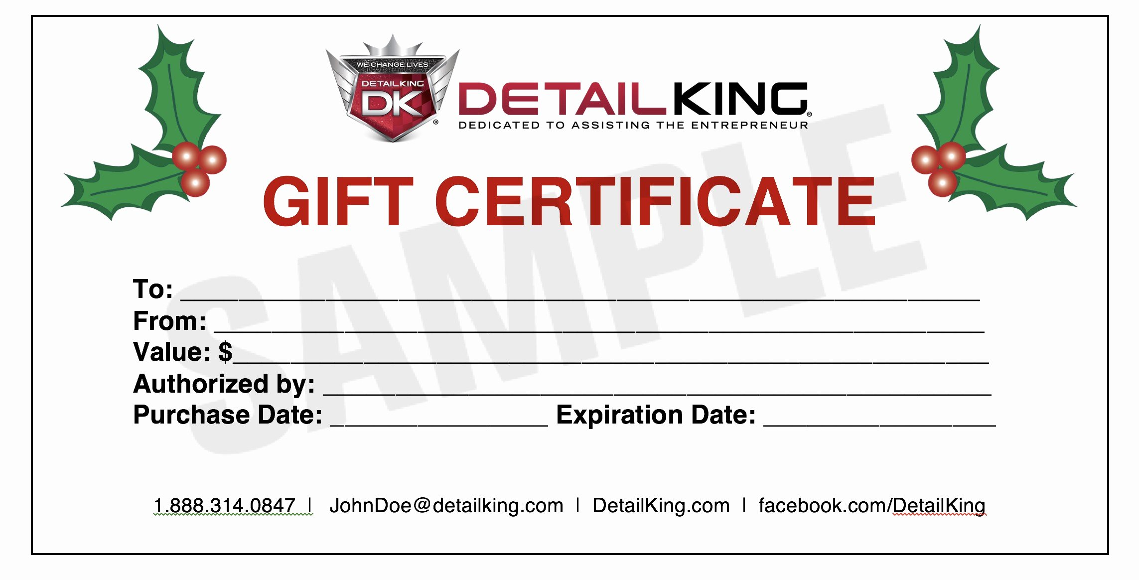 New Blank Gift Certificate – Crisia