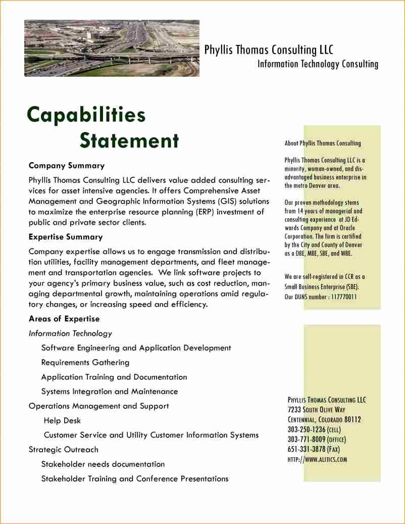 New Capabilitytement Template Free Image Collections