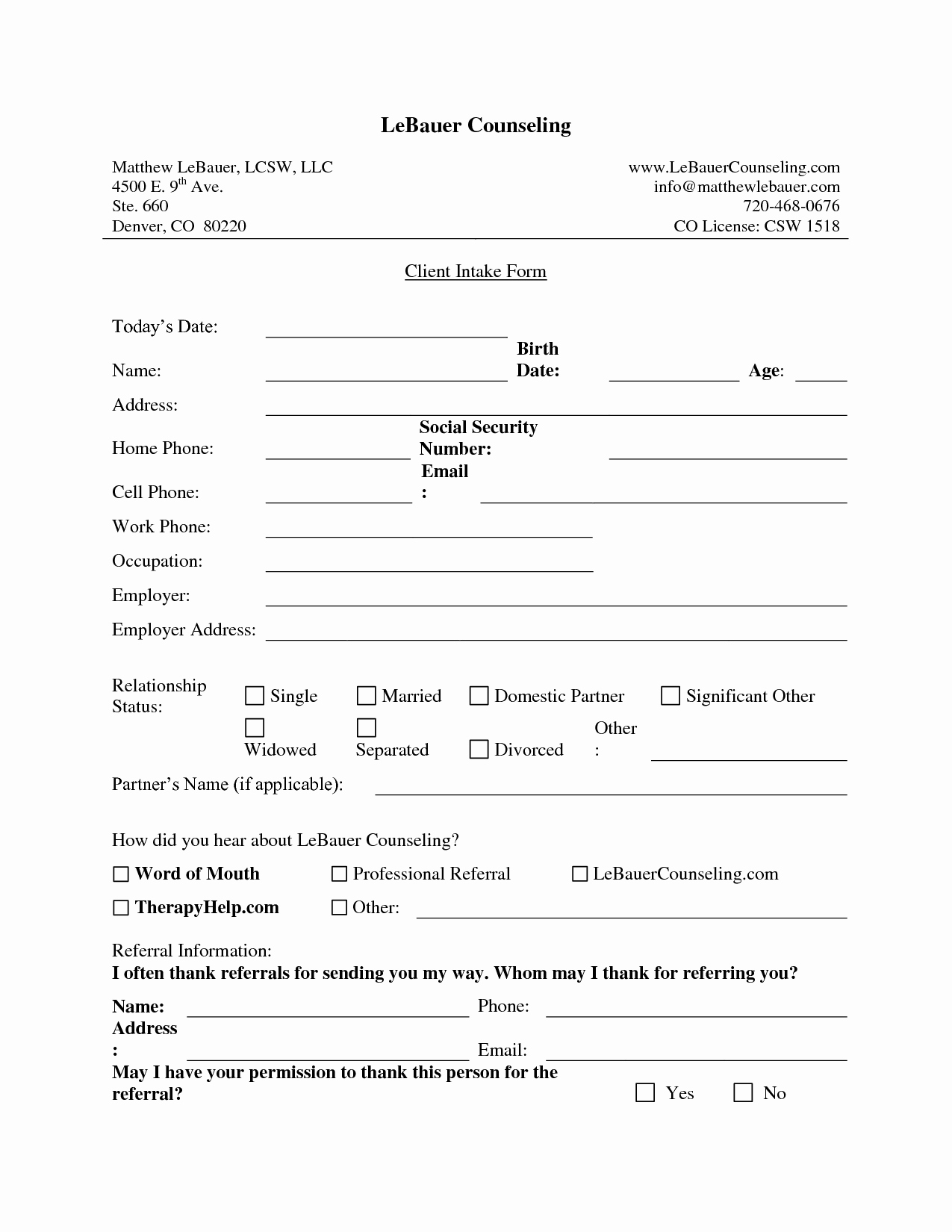 New Client Intake form Template Fogiid Clipart Kid