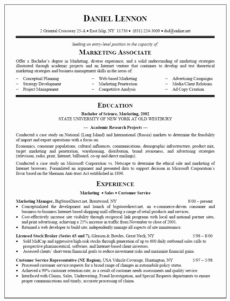 New College Graduate Resume Sample Template Resume Samples
