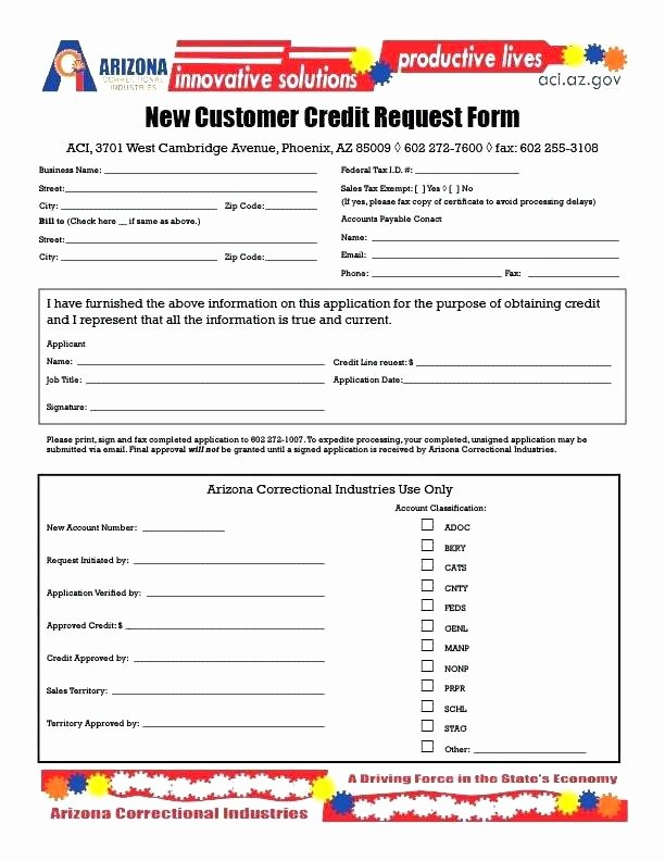 New Customer Information form Template Free Business