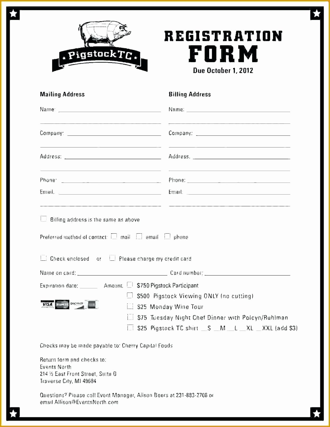 New Customer Registration form Template