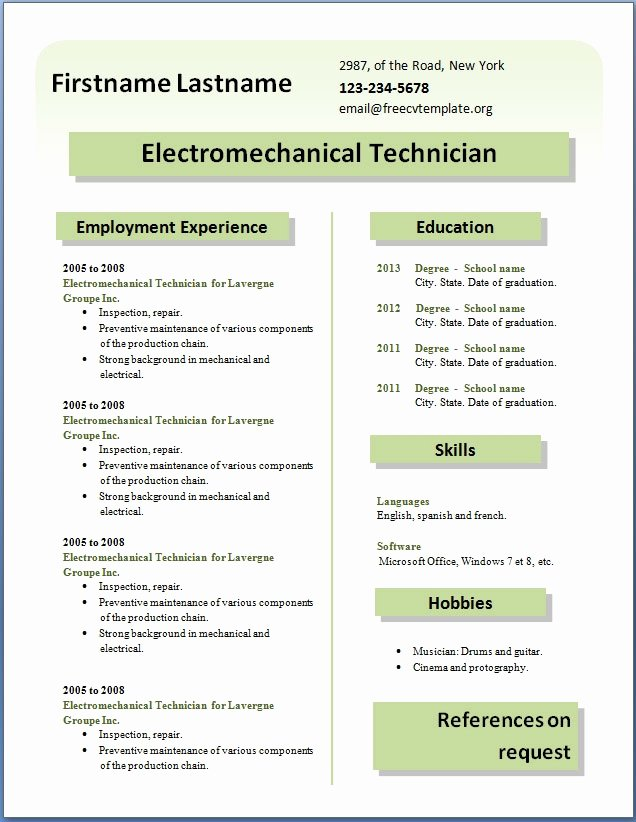 New Cv format Download Curriculum Vitae Samples Pdf