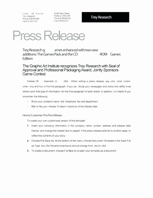 New Employee Announcement Press Release Template – Npeox