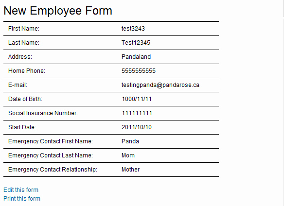 new employee form template