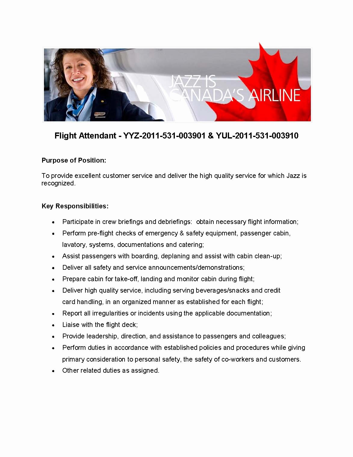 New Flight attendant Cover Letter – Perfect Resume format
