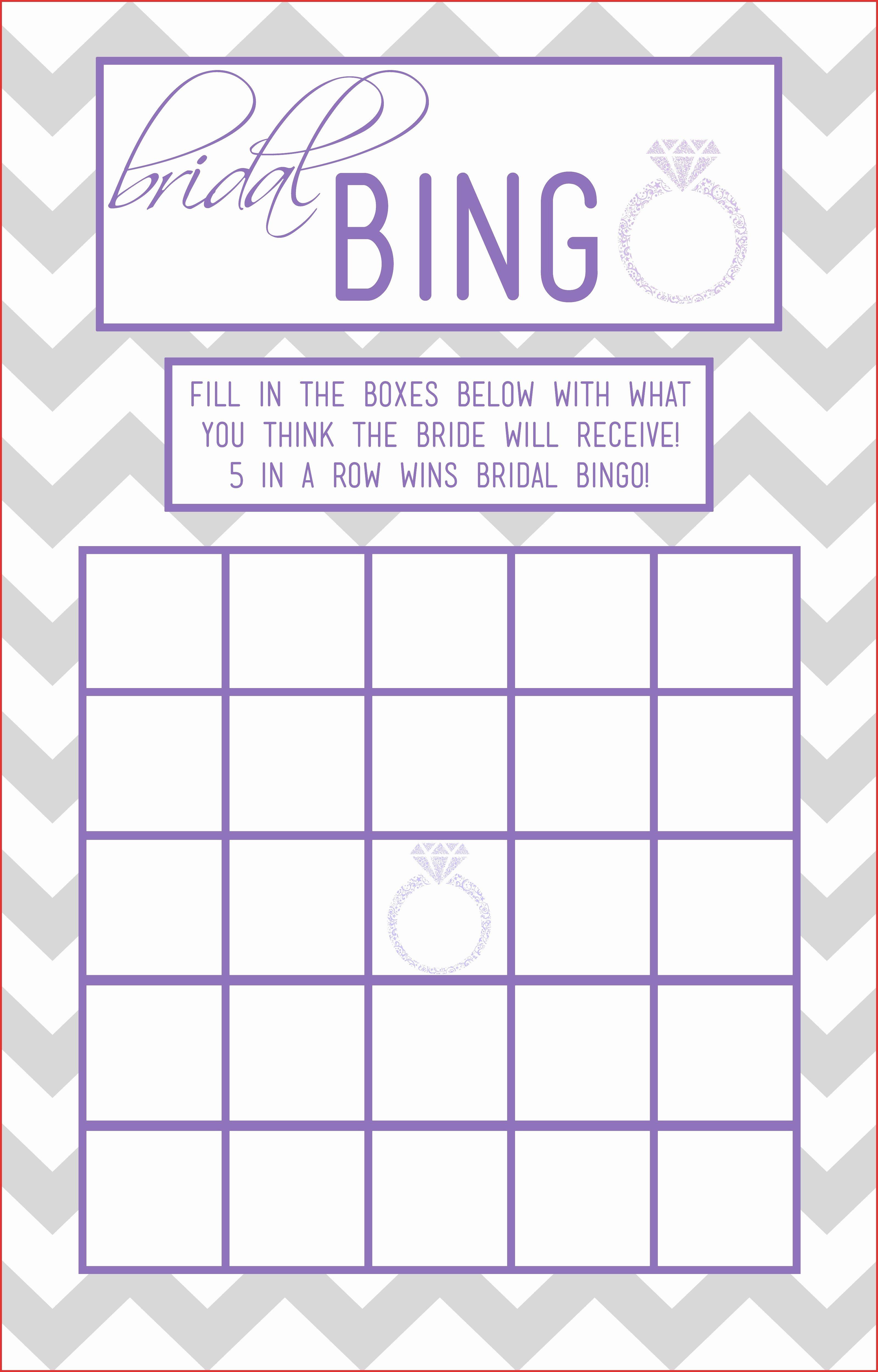 New Free Printable Blank Bingo Cards