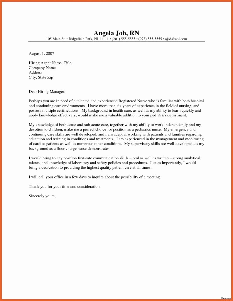 New Grad Nurse Cover Letter Examples