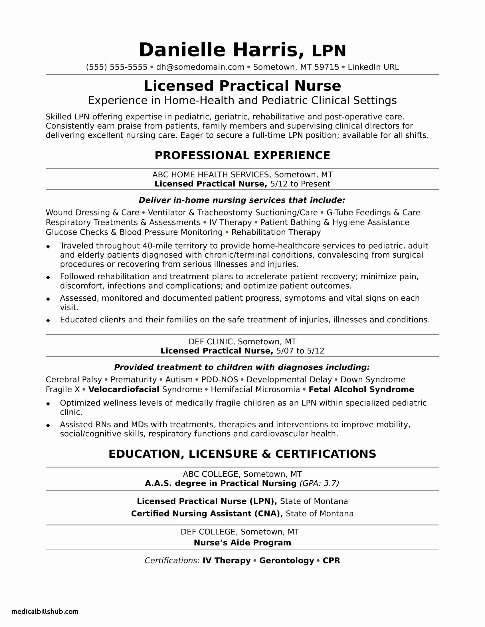 New Grad Nursing Resume Clinical Experience associates