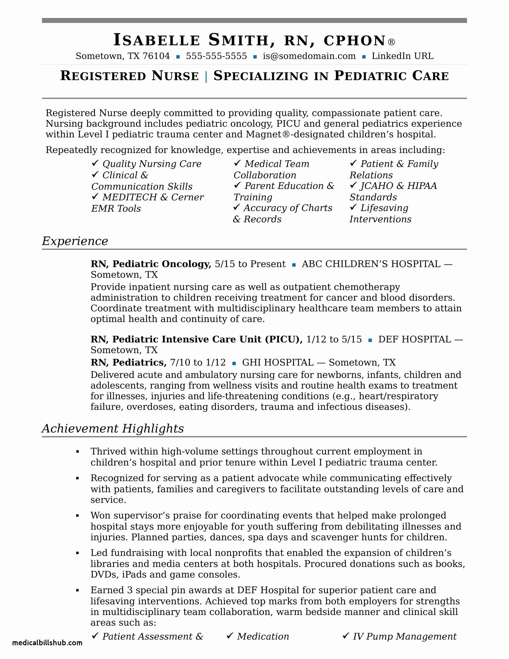 New Grad Nursing Resume Clinical Experience associates