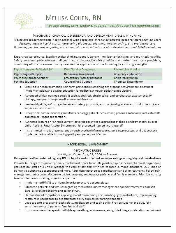 New Grad Nursing Resume Clinical Experience Latter Example Template