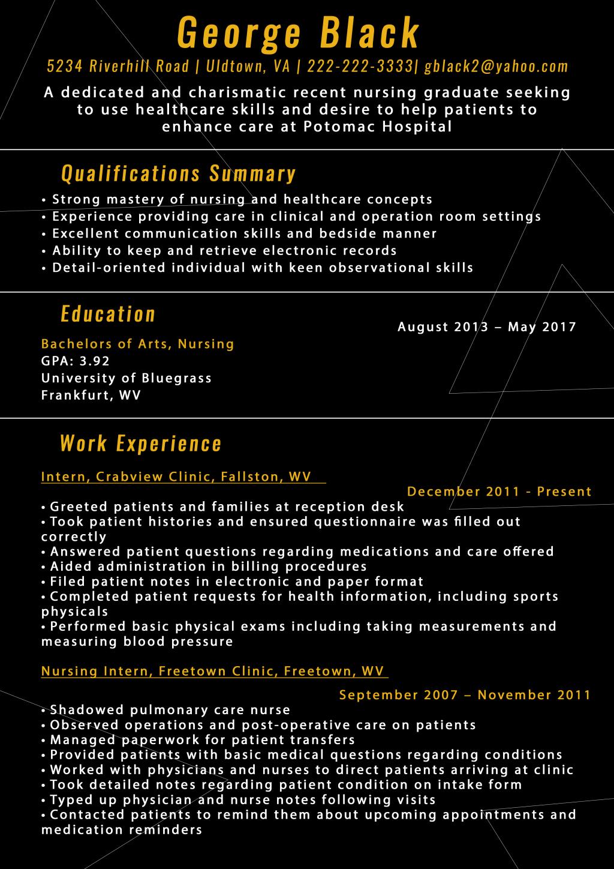 New Grad Nursing Resume [sample Tips