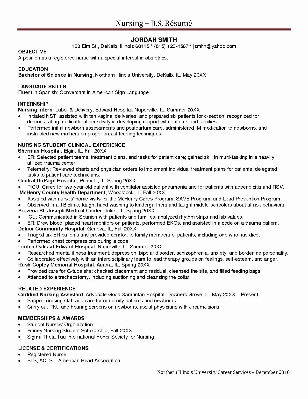 New Grad Rn Resume Objective Sidemcicek Examples