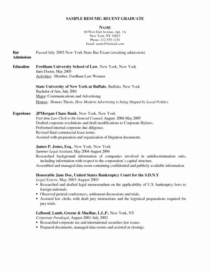 New Grad Rn Resume Sample