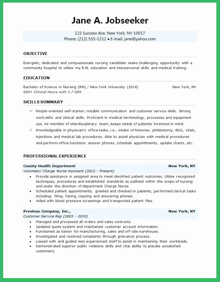New Grad Rn Resume Sample – Igniteresumes