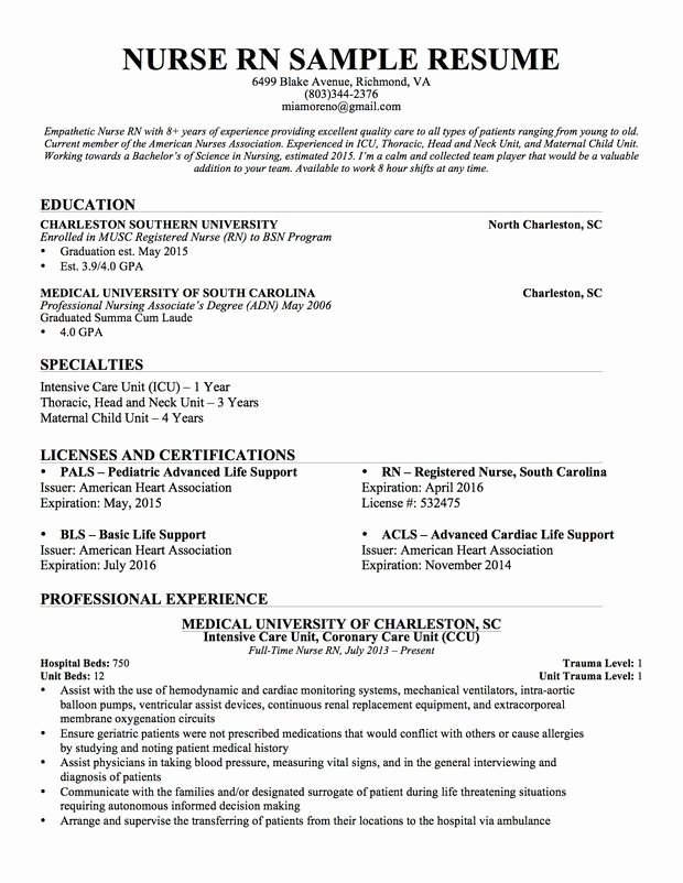 New Graduate Rn Resume Best Resume Collection