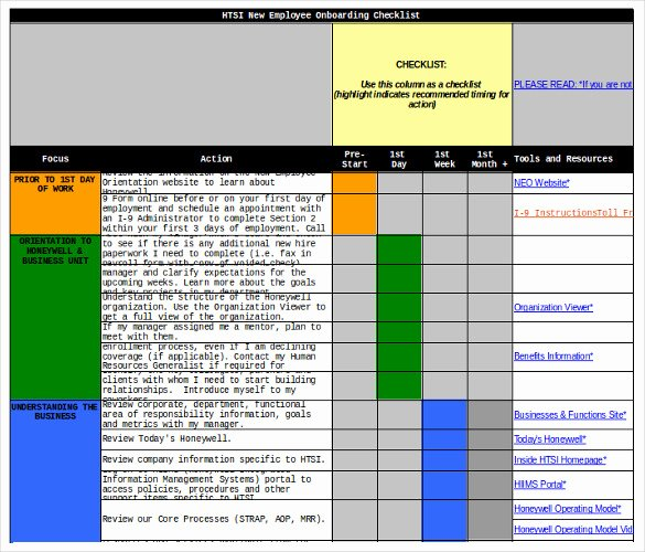 New Hire Checklist Templates Free Word Excel Pdf