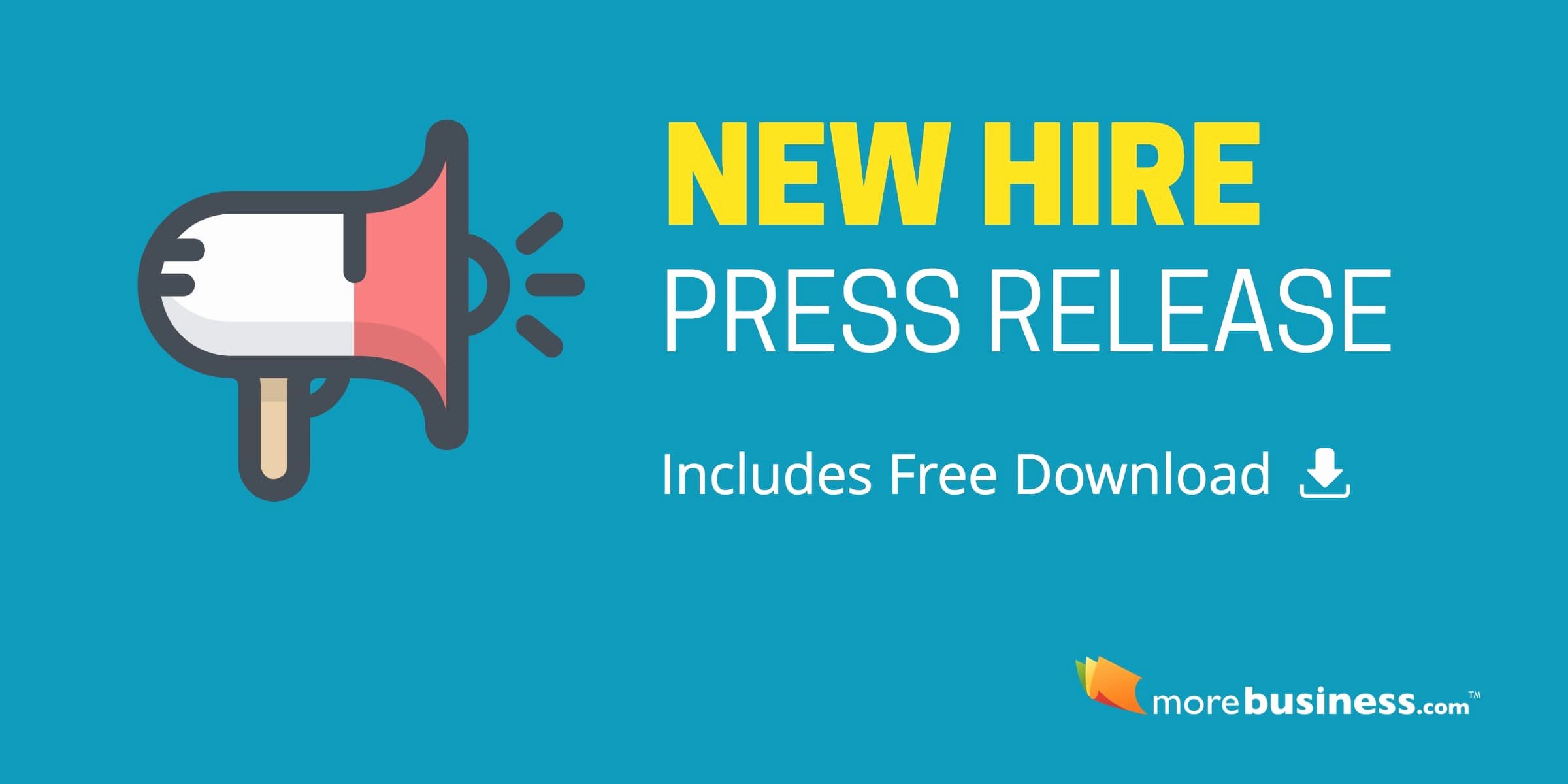 New Hire Press Release Copy Paste This format and Example