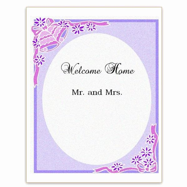 New House New Baby A Wel E Home Sign Template for Word