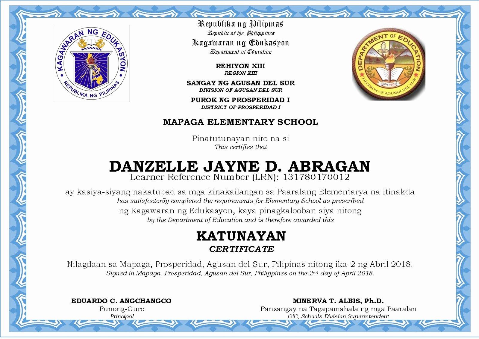 New Kindergarten Certificate & Graduation Program