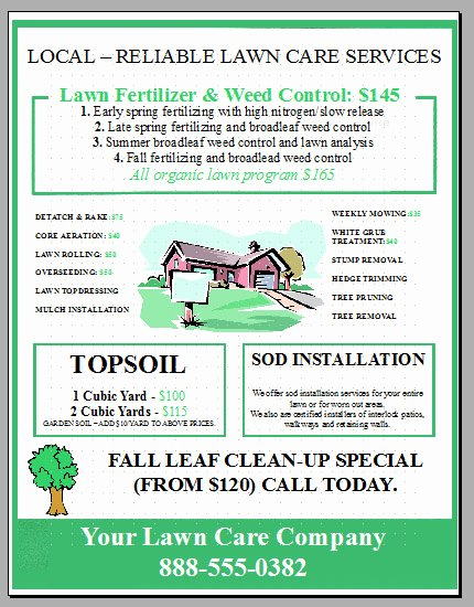 New Lawn Care Business Flyer Template Added