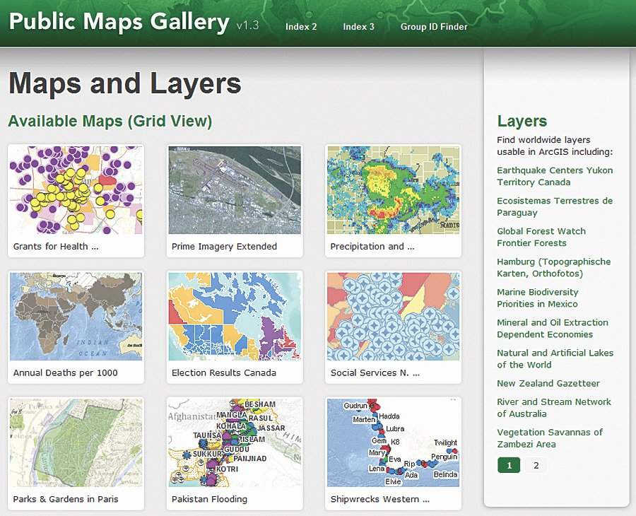New Map Template Provides Fast Access to Web Maps