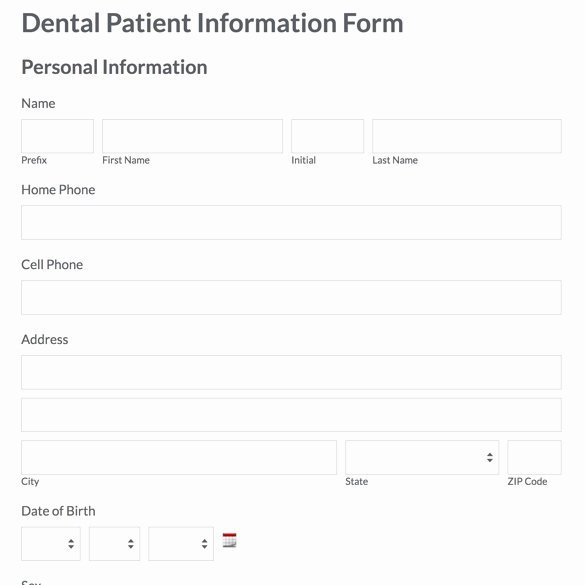 New Patient forms Templates Colesecolossus