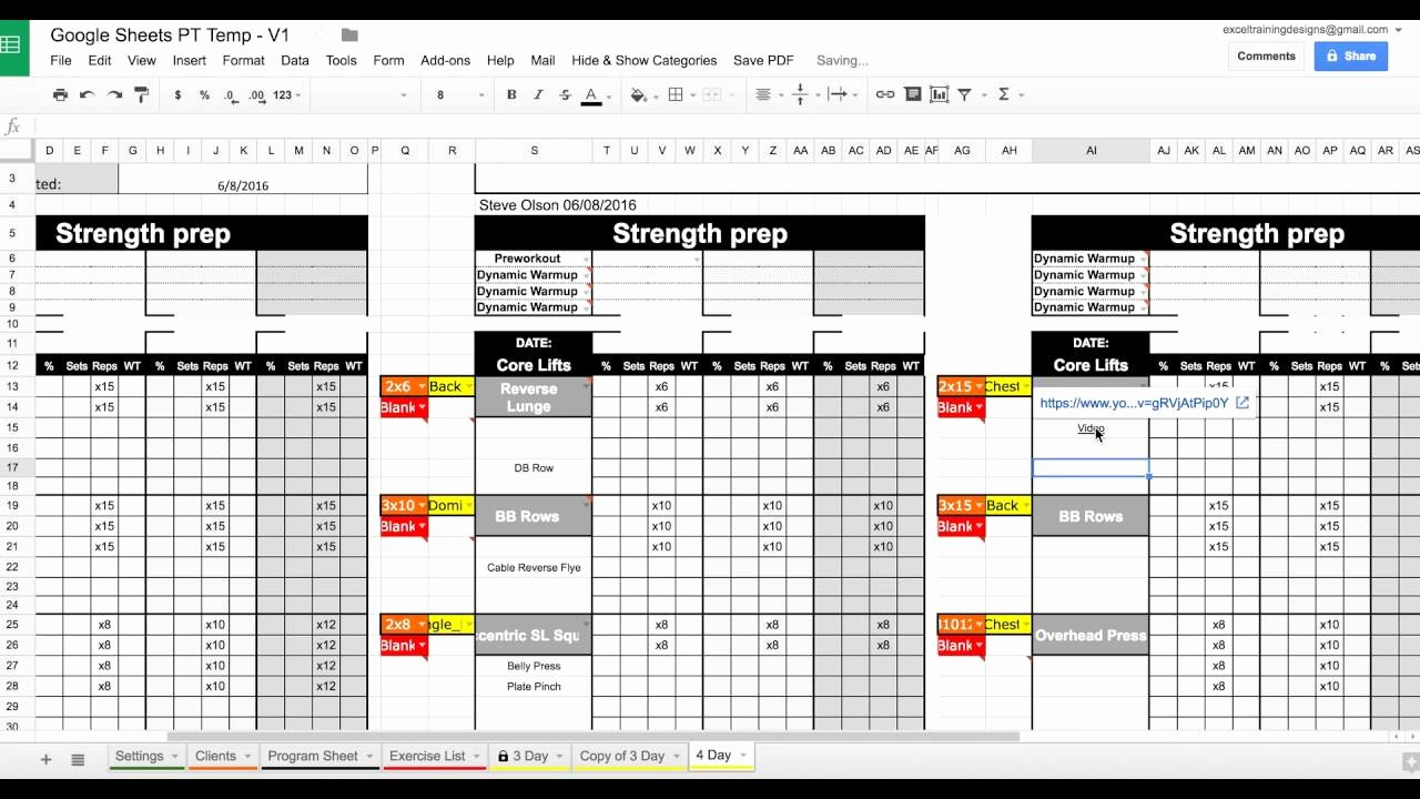 New Personal Training Templates